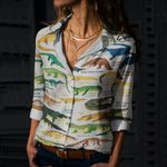 Crocodilians Of The World Cotton And Linen Casual Shirt QA040210