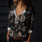 Traditional Tattoo - Nautical - Marine Life Cotton And Linen Casual Shirt KH040201