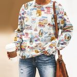 Route 66 Unisex All Over Print Cotton Sweatshirt KH040206