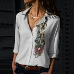 Snake Cotton And Linen Casual Shirt CH050209