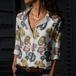 Snakes Cotton And Linen Casual Shirt QA050203