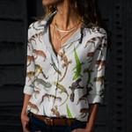 Geckos Of The World Cotton And Linen Casual Shirt QA050211