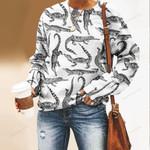 Crocodiles Unisex All Over Print Cotton Sweatshirt QA050202