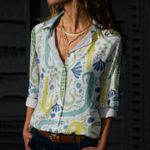 Alligator - Reptiles Cotton And Linen Casual Shirt KH050211