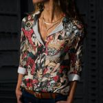 Day Of The Dead Cotton And Linen Casual Shirt KH050212