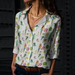 Parrot - Birdwatching - Birds Cotton And Linen Casual Shirt KH050217
