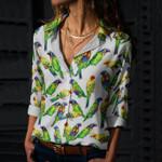 Parrot - Birdwatching - Birds Cotton And Linen Casual Shirt KH050218