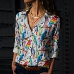 Parrot - Birdwatching - Birds Cotton And Linen Casual Shirt KH050219
