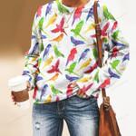 Parrot - Birdwatching - Birds Unisex All Over Print Cotton Sweatshirt KH050213