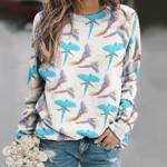 Parrot - Birdwatching - Birds Unisex All Over Print Cotton Sweatshirt KH050214