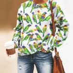 Parrot - Birdwatching - Birds Unisex All Over Print Cotton Sweatshirt KH050218