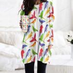 Parrot - Birdwatching - Birds Pocket Long Top Women Blouse KH050213