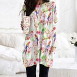 Parrot - Birdwatching - Birds Pocket Long Top Women Blouse KH050215