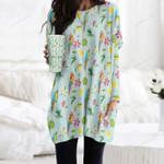 Parrot - Birdwatching - Birds Pocket Long Top Women Blouse KH050216