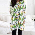Parrot - Birdwatching - Birds Pocket Long Top Women Blouse KH050218