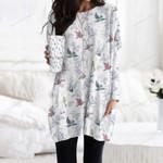 Birdwatching - Birds Pocket Long Top Women Blouse KH050221