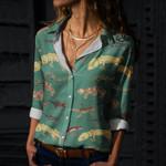 Geckos Cotton And Linen Casual Shirt QA170202