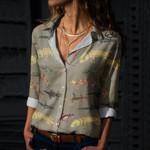 Geckos Cotton And Linen Casual Shirt QA170203