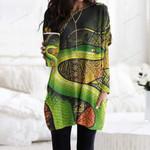 Snake Pocket Long Top Women Blouse CH050201