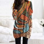 Snake Pocket Long Top Women Blouse CH050203