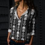 Skull Cotton And Linen Casual Shirt CH180203
