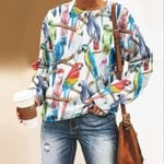 Parrot - Birdwatching - Birds Unisex All Over Print Cotton Sweatshirt KH050219