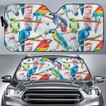 Parrot - Birdwatching - Birds Car Sunshade KH050219