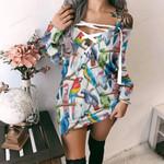 Parrot - Birdwatching - Birds Criss Cross Sweater Dress KH050219