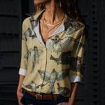 Sparrows and Magpies Cotton And Linen Casual Shirt QA180202