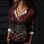 Mandala Cotton And Linen Casual Shirt CH190215