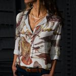 Bird Of Prey Cotton And Linen Casual Shirt CH190219
