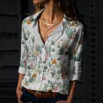 Succulents - Cactus - Cacti Cotton And Linen Casual Shirt KH190203