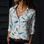 Watercolor Feathers - Birds - Birdwatching Cotton And Linen Casual Shirt KH190210