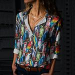 Watercolor Parrot - Birdwatching - Birds Cotton And Linen Casual Shirt KH190211