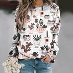 Mid-Century Modern Cacti - Cactus Unisex All Over Print Cotton Sweatshirt KH190205