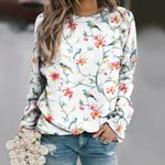 Watercolor Birds - Birdwatching Unisex All Over Print Cotton Sweatshirt KH190206