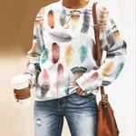 Watercolor Feathers - Birds - Birdwatching Unisex All Over Print Cotton Sweatshirt KH190209