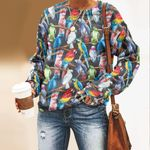 Watercolor Feathers - Birds - Birdwatching Unisex All Over Print Cotton Sweatshirt KH190211