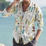 Succulents - Cactus - Cacti Cotton And Linen Casual Shirt KH220208