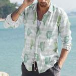 Succulents - Cactus - Cacti Cotton And Linen Casual Shirt KH220214