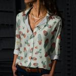 Succulents - Cactus - Cacti Cotton And Linen Casual Shirt KH220216