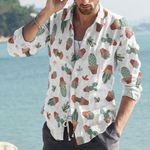 Succulents - Cactus - Cacti Cotton And Linen Casual Shirt KH220217