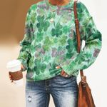 Clover - Leaves Unisex All Over Print Cotton Sweatshirt KH220202