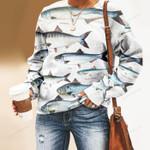 Wolf Herring, Twaite Shad Unisex All Over Print Cotton Sweatshirt KH220203