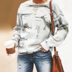 Weedy Seadragon, Shrimpfish Unisex All Over Print Cotton Sweatshirt KH220204