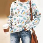 Birdwatching - Bird Unisex All Over Print Cotton Sweatshirt KH220206