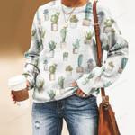 Succulents - Cactus - Cacti Unisex All Over Print Cotton Sweatshirt KH220211