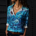 Shark Cotton And Linen Casual Shirt CH220203