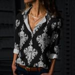 Skull Cotton And Linen Casual Shirt CH220204