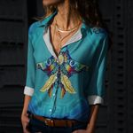 Hippie - Ray Cotton And Linen Casual Shirt CH220209